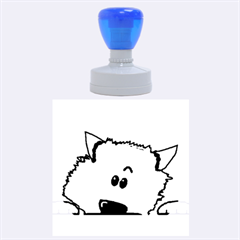 Peeping Pomeranian Rubber Round Stamps (Large)