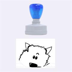 Peeping Pomeranian Rubber Oval Stamps