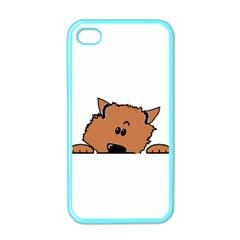 Peeping Pomeranian Apple iPhone 4 Case (Color)
