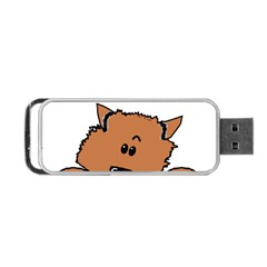 Peeping Pomeranian Portable USB Flash (One Side)