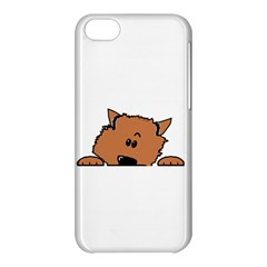Peeping Pomeranian Apple iPhone 5C Hardshell Case