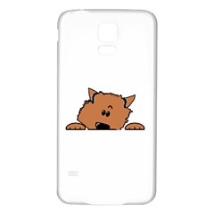 Peeping Pomeranian Samsung Galaxy S5 Back Case (White)