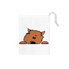 Peeping Pomeranian Drawstring Pouches (Small)