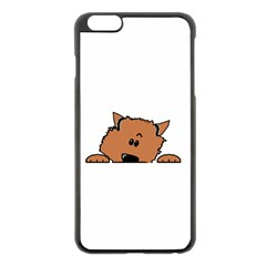 Peeping Pomeranian Apple iPhone 6 Plus/6S Plus Black Enamel Case