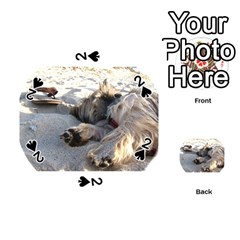 Cairn Terrier Sleeping On Beach Playing Cards 54 (round)