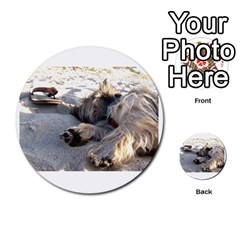 Cairn Terrier Sleeping On Beach Multi-purpose Cards (Round)