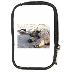 Cairn Terrier Sleeping On Beach Compact Camera Cases