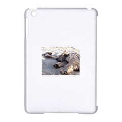 Cairn Terrier Sleeping On Beach Apple iPad Mini Hardshell Case (Compatible with Smart Cover)