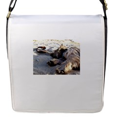 Cairn Terrier Sleeping On Beach Flap Messenger Bag (S)