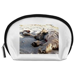 Cairn Terrier Sleeping On Beach Accessory Pouches (Large)