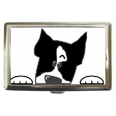 Peeping Boston Terrier Cigarette Money Cases