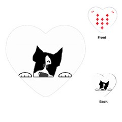 Peeping Boston Terrier Playing Cards (Heart)