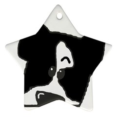 Peeping Boston Terrier Star Ornament (Two Sides)