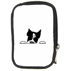 Peeping Boston Terrier Compact Camera Cases
