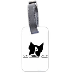 Peeping Boston Terrier Luggage Tags (One Side)