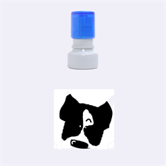 Peeping Boston Terrier Rubber Round Stamps (Small)
