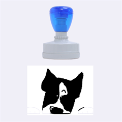 Peeping Boston Terrier Rubber Oval Stamps