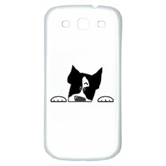 Peeping Boston Terrier Samsung Galaxy S3 S III Classic Hardshell Back Case