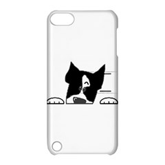 Peeping Boston Terrier Apple iPod Touch 5 Hardshell Case with Stand