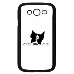 Peeping Boston Terrier Samsung Galaxy Grand DUOS I9082 Case (Black)