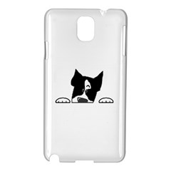 Peeping Boston Terrier Samsung Galaxy Note 3 N9005 Hardshell Case