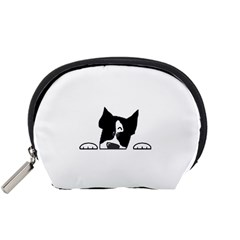 Peeping Boston Terrier Accessory Pouches (Small)