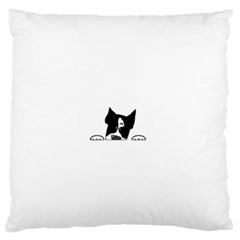 Peeping Boston Terrier Standard Flano Cushion Cases (One Side)