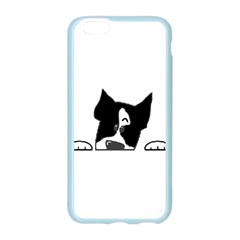 Peeping Boston Terrier Apple Seamless iPhone 6/6S Case (Color)