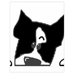 Peeping Boston Terrier Drawstring Bag (Large)