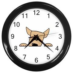 Peeping Chihuahua Wall Clocks (Black)