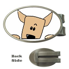 Peeping Chihuahua Money Clips (Oval)