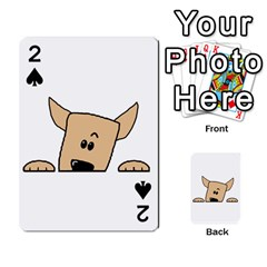 Peeping Chihuahua Playing Cards 54 Designs