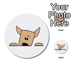 Peeping Chihuahua Multi-purpose Cards (Round)