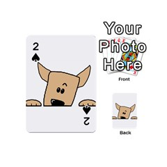 Peeping Chihuahua Playing Cards 54 (Mini)