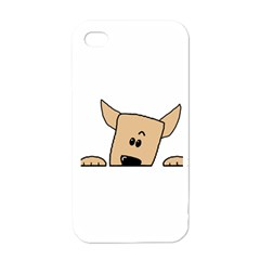 Peeping Chihuahua Apple iPhone 4 Case (White)