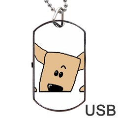 Peeping Chihuahua Dog Tag USB Flash (Two Sides)