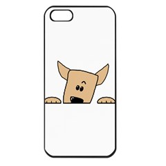 Peeping Chihuahua Apple iPhone 5 Seamless Case (Black)