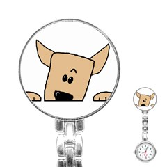 Peeping Chihuahua Stainless Steel Nurses Watches