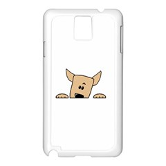 Peeping Chihuahua Samsung Galaxy Note 3 N9005 Case (White)