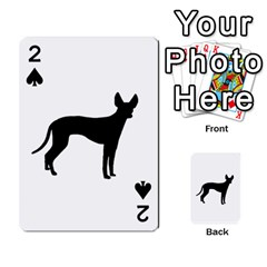 Cirneco Delletna Silhouette Playing Cards 54 Designs