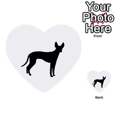 Cirneco Delletna Silhouette Multi-purpose Cards (Heart)