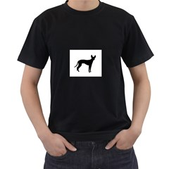 Cirneco Delletna Silhouette Men s T-Shirt (Black)