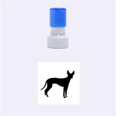 Cirneco Delletna Silhouette Rubber Round Stamps (Small)