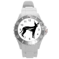 Cirneco Delletna Silhouette Round Plastic Sport Watch (L)