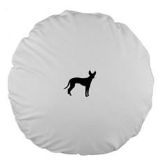 Cirneco Delletna Silhouette Large 18  Premium Flano Round Cushions