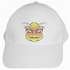 Angry Monster Portrait Drawing White Cap