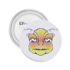 Angry Monster Portrait Drawing 2.25  Buttons