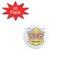 Angry Monster Portrait Drawing 1  Mini Magnet (10 pack)