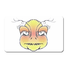 Angry Monster Portrait Drawing Magnet (Rectangular)