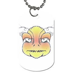 Angry Monster Portrait Drawing Dog Tag (One Side)